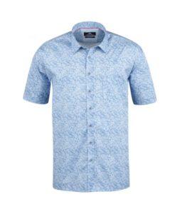 chemisette bleu micro motifs