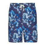 maillot de bain homme bleu à motifs