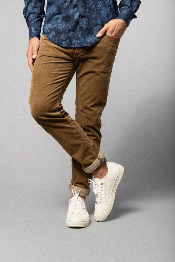 Pantalon en velours homme grande taille